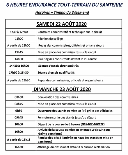 timing 2020
